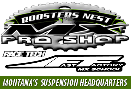 Roosters Nest MX Pro Shop Bozeman Race Tech Suspension Montana